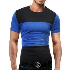 658afc65e57 Men s T-shirt Short Sleeve T Shirt O-Neck Men T-Shirt Simple splicing Tee  Tops Shirt Homme T Shirts 3XL 2011