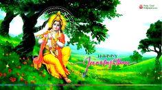 Shri Krishna Janmashtami Green Wallpaper