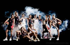 Fog machine sports team photos