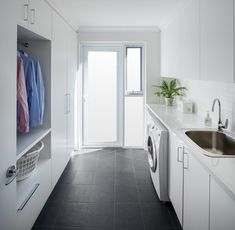 Client Project - Mt Hawthorn - Contemporary - Laundry Room - Perth - by Modern Home Improvers Outdoor Laundry Rooms, Modern Laundry Rooms, House Design Photos, Modern House Design, Utility Room Designs, Laundry Room Bathroom, Laundry Room Inspiration, Laundry Room Organization, Small Laundry