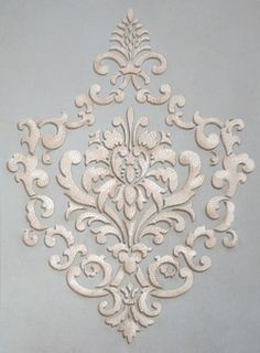 Reusable Motif Wall Stencil - European Vintage Ornamental Design - Custom Damask Wallpaper Look - Better than Wall Decals - Diy Decoration Damask Wall Stencils, Wall Stencil Patterns, Stencil Art, Stencil Designs, Stenciling, Motif Baroque, Motif Arabesque, Royal Design, Bar Design