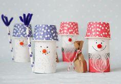TP Roll Craft - Santa and Snowman / Weihnachtsmann+Schneemann - Basteln mit Toilettenpapierrolle
