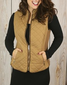Fall in Love Puffer Vest II in Camel
