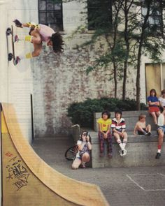 Ramp #skateboarding #oldschool #kids    reminds me of my big brother in the 80's