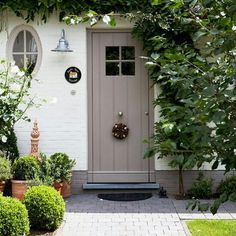 Cottage front door.