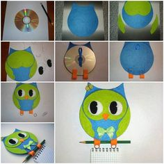 You searched for Diy old cd - i Creative Ideas Old Cd Crafts, Owl Crafts, Animal Crafts, Diy And Crafts, Crafts For Kids, Diy Owl Decorations, Owls Decor, Recycled Cds, Owl Fabric