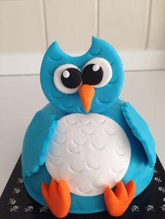 Baykuş pasta Smurfs, Cake, Desserts, Fictional Characters, Tailgate Desserts, Deserts, Kuchen, Postres, Dessert