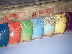 handmade ceramic owl figure  choose your color by claylicious, $20.00