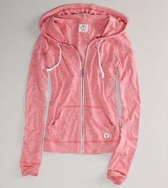 light weight pink hoodie