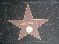 Jane Powell's star on the Hollywood Walk of Fame