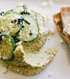 Lemon and herb hummus