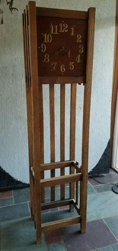 Arts Amp Crafts Mission Oak Tall Case 1910 Antique