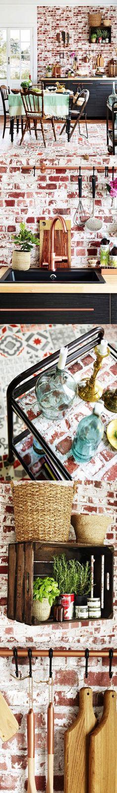 Una cocina estilo Vintage con toques industriales / http://www.facilisimo.com/blog-bohemianandchic
