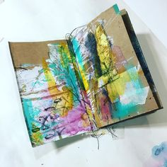 "183 Likes, 10 Comments - Tiffany Goff Smith (@southerngals_designs) on Instagram: ""Just something I worked on in my personal mini journal. Made from @gelliarts gelli plates.…"""