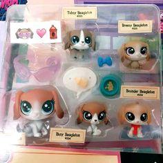 Littlest Pet Shop Mommy & Babies Beagle Dog Family Hasbro Figure Boy Toy Gift