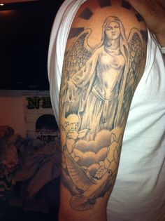 angel tattoo sleeve designs for men