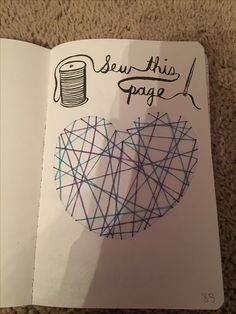 Sew this page. Wreck this journal.