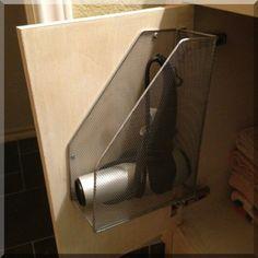 Get This 15 Storage Solution for you Allabouthome Bathroom Hacks, Bathroom Organization, Bathroom Ideas, Create A Person, Hair Dryer Holder, Dry Sink, Organisation Hacks, Organizing Ideas, Good Day Sunshine