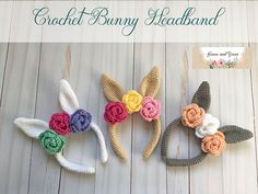 Crochet Bunny Headband - A Free Pattern | Grace and Yarn