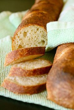 homemade french bread by hand, no bread machine required