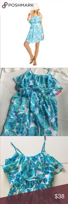 BRAND NEW Lilly Pulitzer Sea Urchin Dress Flounce Brand: Lilly Pulitzer for Target  Condition: Brand new with tags (stored in brand new plastic bin since original purchase)  Color: Teal & White  Size: Medium (Originally had more sizes available which is why pictures show size large).    Price is firm. Lilly Pulitzer for Target Dresses