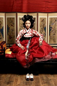 Korean Hanbok. Hanbok (South Korea) or Chosŏn-ot (North Korea) is the traditional Korean dress. It is often characterized by vibrant colors and simple lines without pockets.