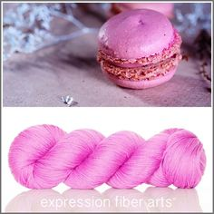 Expression Fiber Arts, Inc. - RASPBERRY MACARON - 'SOCKLOVE' Limited Edition SOCK YARN, $24.00 (http://www.expressionfiberarts.com/products/raspberry-macaron-socklove-limited-edition-sock-yarn.html)