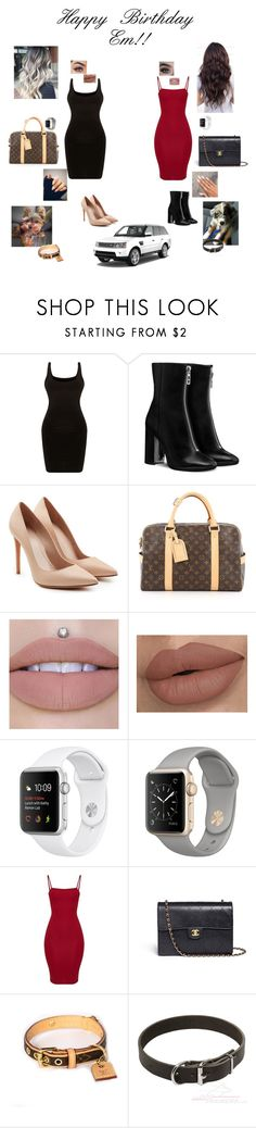 """""""Happy b-day em!🖤"""" by sabellacunningham ❤ liked on Polyvore featuring Alexander McQueen, Louis Vuitton and Chanel"""