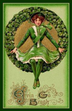 Vintage St. Patrick's Day postcard by Janny Dangerous