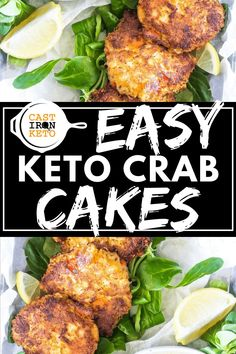 Homemade Crab Cakes, Crab Cake Recipes, Fish Recipes, Lunch Recipes, Breakfast Recipes, Recipes Dinner, Fish Recipe Low Carb, Low Carb Recipes, Diabetic Recipes