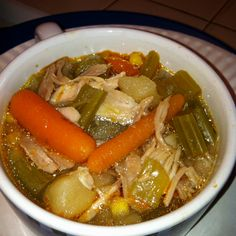 Made some Chicken Soup with Veggies in my Wolfgang Puck bistro pressure cooker, mmmm...