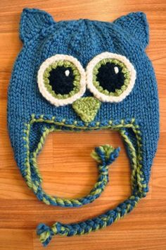 Owl Be There Hat By Lauren - Purchased Knitted Pattern - (girlyknits)