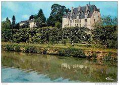 Chatillon en Bazois - 58 - Chatillon en Bazois - Le Château vu du Canal du Nivernais - Voir Scans Recto-Verso