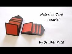 How to make - Waterfall Card Tutorial, by Srushti Patil, My Crafts and DIY Projects Diy Exploding Box, Diy Paper, Paper Crafts, Explosion Box Tutorial, Waterfall Cards, Mini Waterfall, Papier Diy, Karten Diy, Up Book