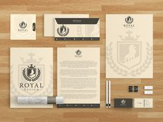 Royal Design Brand Identity Template by MusiqueDesigns on Creative Market Letterhead Business, Business Card Logo, Business Design, Brand Identity Design, Branding Design, Logo Design, Graphic Design, Iphone Wallpaper 10, Illustrator Cs5