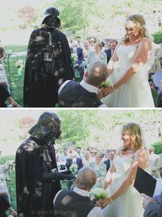 Darth Vader ring bearer? Why not? |Stone Brewing World Bistro and Gardens wedding in San Diego | By Ohana Photographers