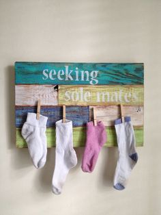 Laundry Room Decor Seeking Sole Mates by shoponelove on Etsy