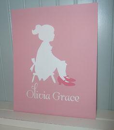 Custom Silhouette Art Print Little GIRL BIG SHOES by IAdoreDecor, $15.00