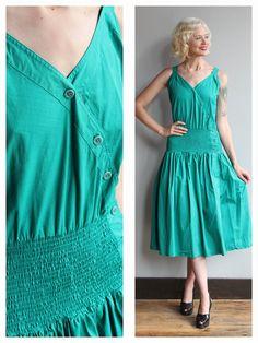 1980s Designer Dress // GUCCI Summer Dress // by dethrosevintage