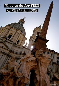 What to do for FREE [or cheap] in Rome #Italy #PinoftheDay http://mymelange.net/mymelange/2008/12/travel-tip-tuesday-free-and-different-in-rome.html