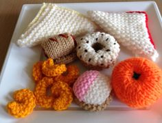 My hand knitted picnic/buffet food