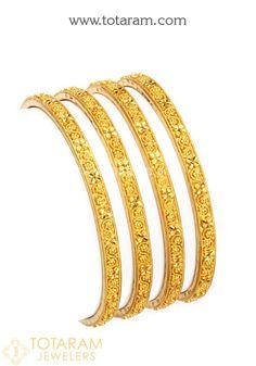 22 Karat Gold Bangle - Set of 4 (2 Pair)