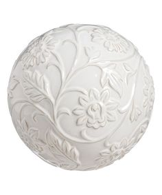 Love this Classic White Embossed Garden Orb on #zulily! #zulilyfinds