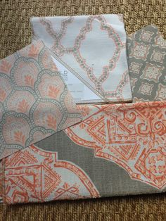Design Indulgence: LACEFIELD DESIGNS Lacefield Summer 2014 Textile Introductions Apricot Colorway #interiors #fabric  www.lacefielddesigns.com