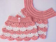 Pink crochet fan skirt – Free pattern