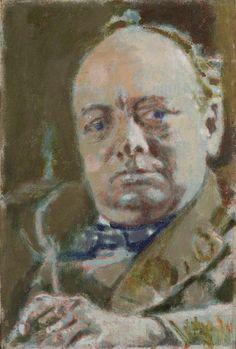 Sir Winston Churchill by Walter Richard Sickert, oil on canvas, 1927 Walter Sickert, Impressionist Artists, Post Impressionism, National Portrait Gallery, Art Uk, Winston Churchill, Painting Lessons, Oil On Canvas, Illustration Art
