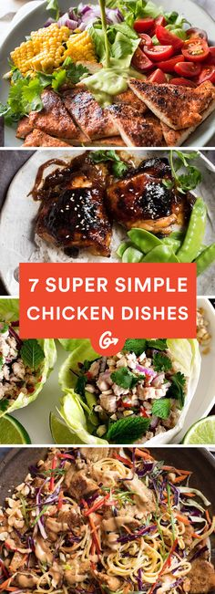 7 Super Simple Chicken Dishes That Are Tasty AF #healthy #chicken #recipes http://greatist.com/eat/easy-chicken-recipes-that-are-tasty-af