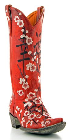 Womens Old Gringo Cherry Blossom Boots  #L1070-1