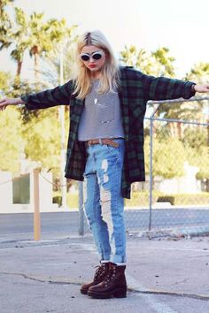 Grunge Style | via Facebook fashion,  grunge  #outfit