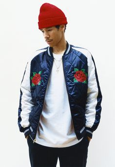 quilted satin bomber - supreme